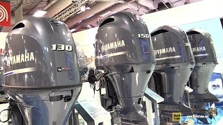 7. 2016 Yamaha Outboard Engine 100 130 150 175 200 300 350 - Walkaround - 2015 Salon Nautique de Paris