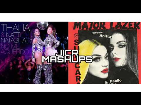 Thalía x Major Lazer - No me acuerdo / Sua Cara - Ft Natti Natasha Anitta Pabllo Vittar MASHUP