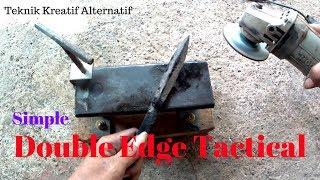 Cara membuat Pisau Belati menggunakan laher/bearing.