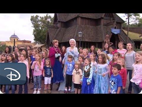Frozen's 'Let it Go' on Good Morning America | Walt Disney World