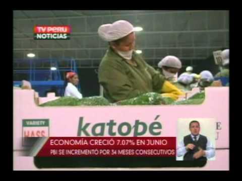 Economía creció 7 07% en Junio   TV Perú Noticias 15 08 12