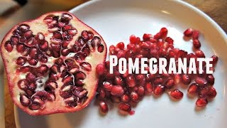 Tasting Pomegranate&How To Open One: 2 Easy Ways