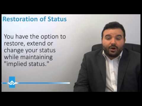 Restoration of Status in Canada Video
