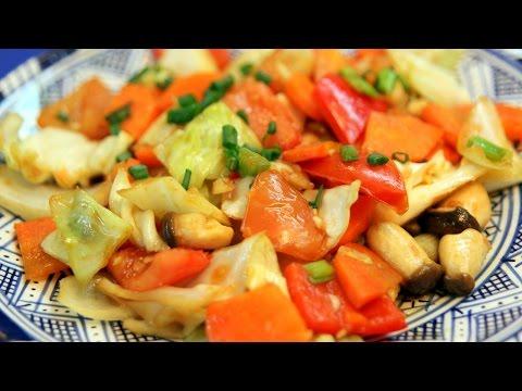 Vegetables Stir-fry – Thai recipe