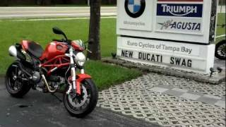 6. 2011 Ducati Monster 796 Red Motorcycle