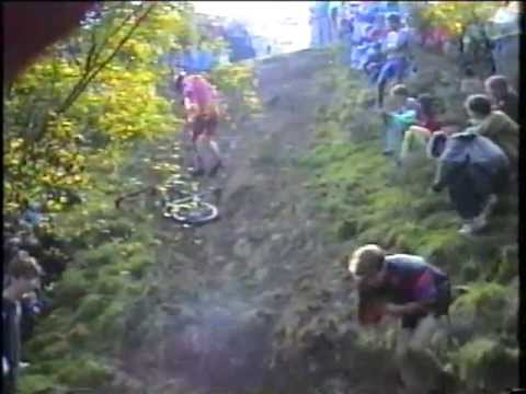 Bosley mudslide and vintage MTB Mountain bike Cross country race 1991 (nemba era)
