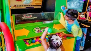 Kids Arcade Games Plastic Balls Game Splash the Ducks Game Chuck E Cheese's Houston - ZMTWKids Arcade Games Plastic Balls Game Splash the Ducks Game Chuck E Cheese's Houston ZMTWSuper fun chuck e cheese Arcade in Houston. Zoey had lots of fun with the cool new games. Hope you enjoy with her!Please subscribe, like, and comment for upcoming videos.Like us on facebookhttps://www.facebook.com/zoeymeetsthe...Kids Arcade Games, Plastic Balls Game, Splash the Ducks Game, Chuck E Cheese's - ZMTWhttps://www.youtube.com/watch?v=vQXwI...Kids Sliding, Jumping, Indoor Playground, Majestkids Playlandhttps://www.youtube.com/edit?video_id...Carnival Cruise Water Slide Fun for Kids WaterWorks Carnival Legendhttps://www.youtube.com/edit?video_id...Outdoor Playground Fun For Kids, Splash Pad, Slides, Kids Waterpark https://www.youtube.com/edit?video_id...Indoors Playgroundhttps://www.youtube.com/watch?v=XNGYt...Jumpstreet Indoor Trampoline Park Review https://www.youtube.com/watch?v=BMS0_...Kids Playing Indoor Playground, Baby Games at Gymboree Playhttps://www.youtube.com/watch?v=kdWXy...Baby Playing Outdoor Giving Cat Bathhttps://www.youtube.com/watch?v=vu8Ar...Here is how you write baby playing and kids playing in different languages: bebé jugando, niños jugando, 孩子们玩, खेल रहे बच्चों, بچوں کے کھیل سے, дети , играющиеToy in other Languages: खिलौने, brinquedos, ของเล่น, اللعب, igračke, đồ chơi, oyuncaklar, leksaker, juguetes, играчке, игрушки, jucării, тоглоом, leker, اسباب بازی, zabawki, 장난감, トイズ, giocattoli, mainan, játékok, צעצועים, Hračky, legetøj, speelgoed, laruan, jouets, Spielzeug, ΠαιχνίδιαHappy Bee by Kevin MacLeod is licensed under a Creative Commons Attribution license (https://creativecommons.org/licenses/...)Source: http://incompetech.com/music/royalty-...Artist: http://incompetech.com/