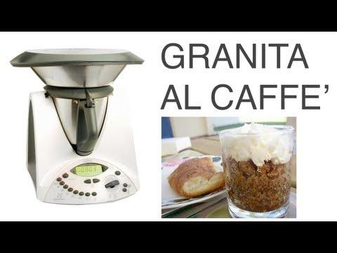 video ricetta: bimby - granita al caffè: quella vera, quella siciliana