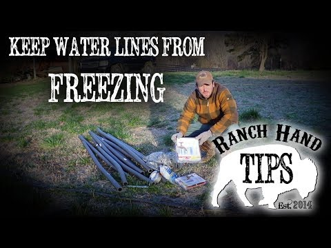 Keep Pipes, Wells, Hoses, and RV Camper Water Lines from Freezing - Ranch Hand Tips