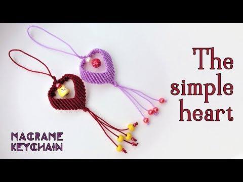 macramè - portachiavi a forma di cuore facile e veloce