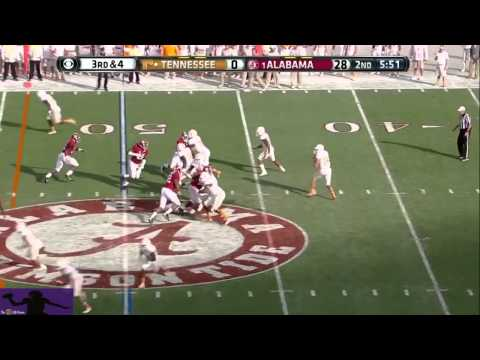 Justin Worley vs Alabama 2013 video.