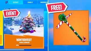 The WINTERFEST Event FREE REWARDS NOW in Fortnite..