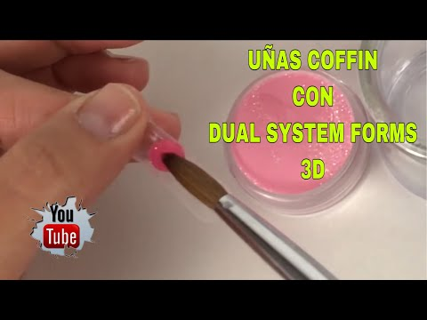 Videos de uñas - UÑAS COFFIN CON DUAL SYSTEM FORMS/3D/COFFIN NAILS WITH DUAL SYSTEM/SALON DESIGN/SELECT DESIGN/3D