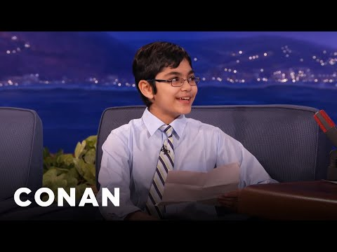 Child Prodigy Tanishq Abraham's Hilarious Science Jokes  – CONAN on TBS