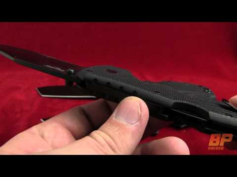 Cold Steel Recon 1 Spear Point Folding Knife - Black Serr