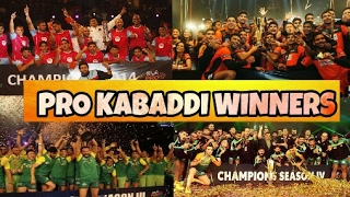 Pro kabaddi Winners List of All Season 1 , 2 , 3  , 4  & 5 Winning Amount| Pro Kabaddi 2019 Winner?