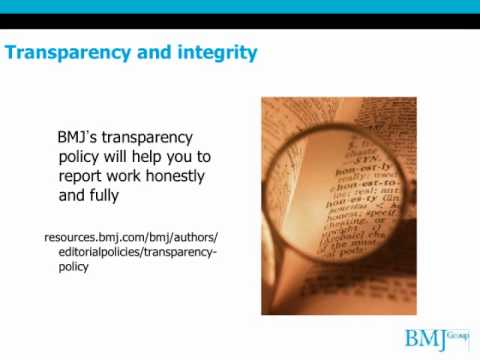 How to get your research published: The BMJ's tips (video)