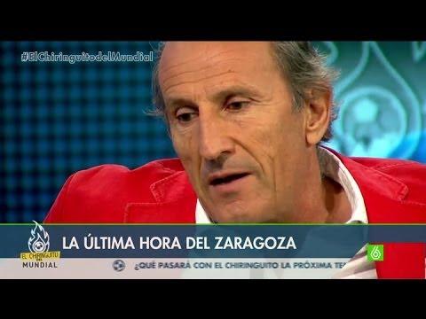 ZARAGOZA - El tertuliano se emocionó al hablar de la tremenda crisis del Zaragoza y recordó su infancia unida al entorno del conjunto maño.