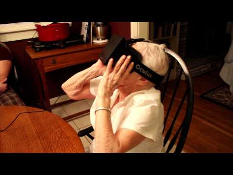 90 Year Old Grandmother Tries Oculus Rift VR Headset