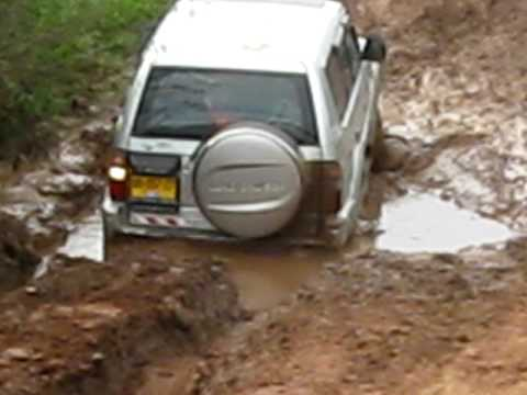 Toyota Prado came out from the deep mud