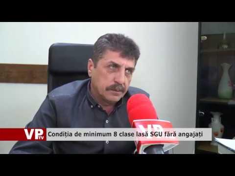 Condiția de minimum 8 clase lasă SGU fără angajați