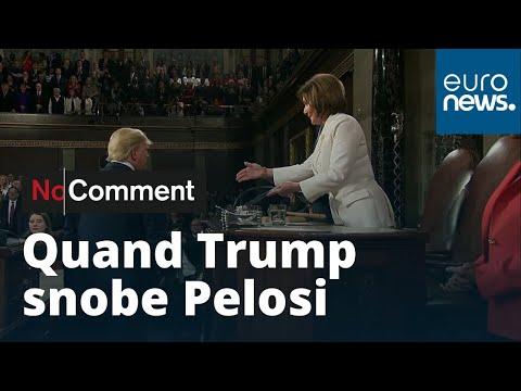 Donald Trump refuse de serrer la main à la cheffe démocrate de la chambre des représentants
