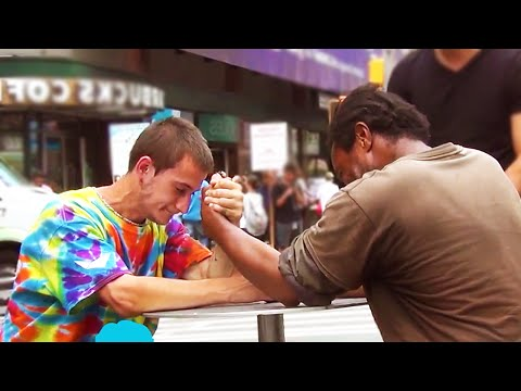 social - Prank & Pranks...Homeless Guys Arm Wrestling for Money (Social Experiment) - Giving Homeless $100 - AMAZING ENDING!➨ If you guys enjoyed the video, make sure to hit the like button and subscribe...