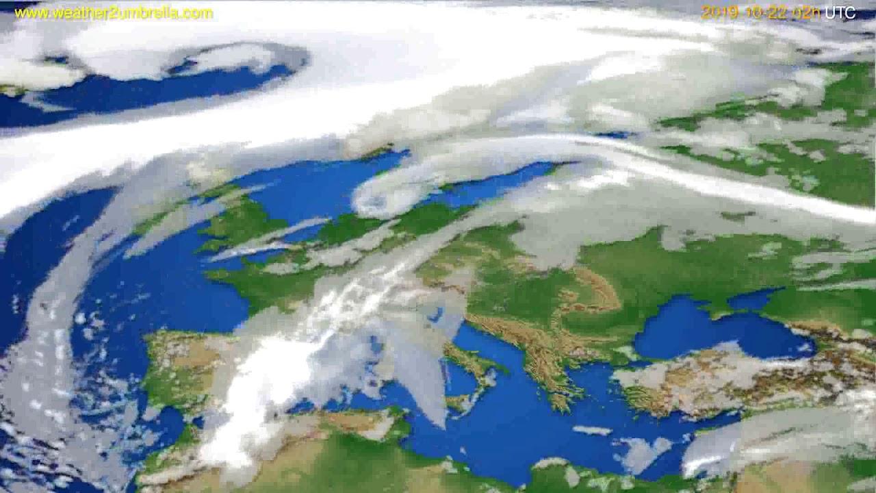 Cloud forecast Europe // modelrun: 00h UTC 2019-10-20