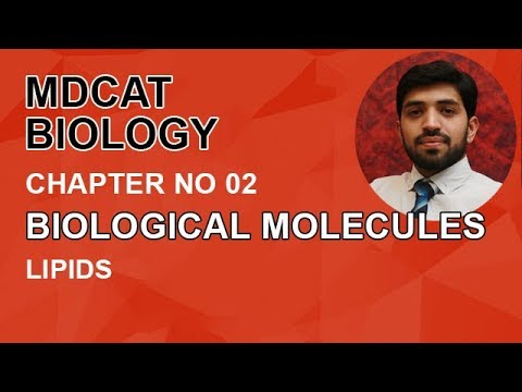 MDCAT Biology, Entry Test, Ch 2, Define Lipids-Chapter 2 Biological Molecules