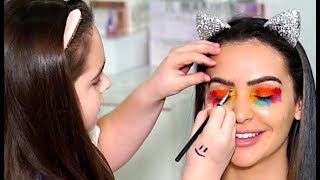 MY 11 YEAR OLD COUSIN DOES MY MAKEUP! by Carli Bybel