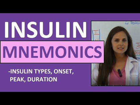 Insulin Onset Peak Duration Mnemonic | Types of Insulin Nursing NCLEX Review
