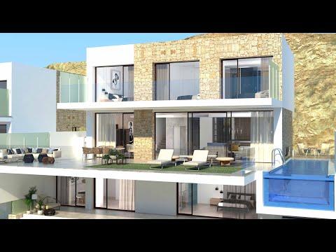 От 1290000€/Элитные дома в Бенидорме/Недвижимость в Испании премиум-класса/Сьерра Кортина/HiTech