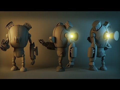 robot modeling high poly games 3ds max tutorials