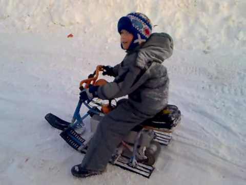 Детский снегоход своими руками фото