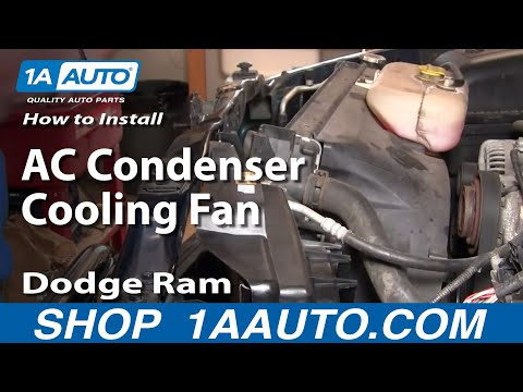 How To Install Repair Replace Part 2 AC Condenser Cooling Fan Dodge Ram 02-08 1AAuto.com