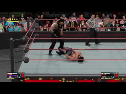WWE 2K17 Amazing Match Roman Reigns Vs Seth Rollins