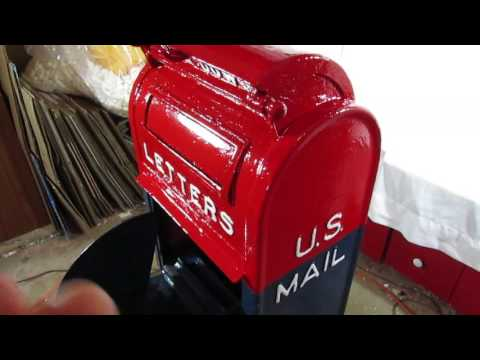 Antique 1922 Post Office Collection Mailbox~Rising Phoenix Antiques