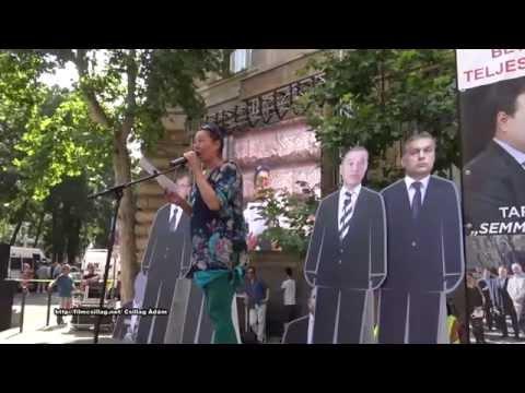 Quaestor károsultak tüntettek az MNB előtt 2015 július 25