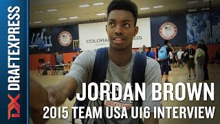 Jordan Brown 2015 Team USA U16 Interview - DraftExpress