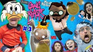 DUCKTALES Treasure vs. GANG BEASTS!  FGTEEV DR. HELLO NEIGHBOR & Granny Family Royale (#3) Skit