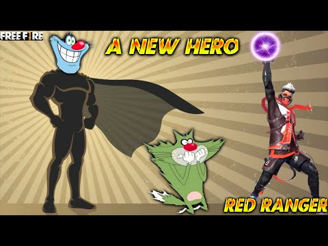 A New Hero Oggy Become Red Ranger | With Jack || Free Fire | Minecraft Oggy || Triple Slot