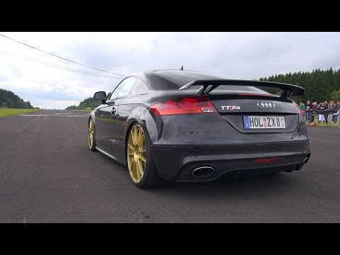 audi tt-rs coupe - revs, accelerations, dragracing