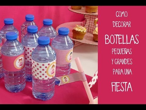 Botellas decoradas para fiestas. Aprende a decorar botellas de vidrio o plástico.