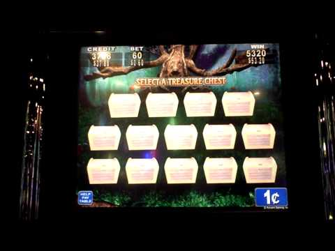 slot - sixty cent bet with re-trigger.