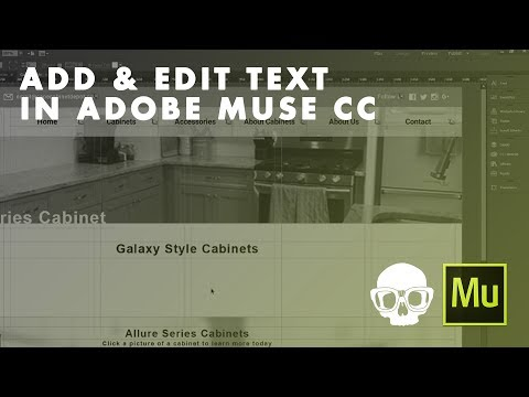 Inner Geek Tutorial | Adobe Muse CC 2017: Add And Edit Text