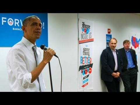 President Obama cries as he talks to his campaign workers