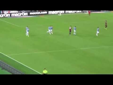 lazio - bologna 2-1 il gol di biglia dalla curva 22-08-2015