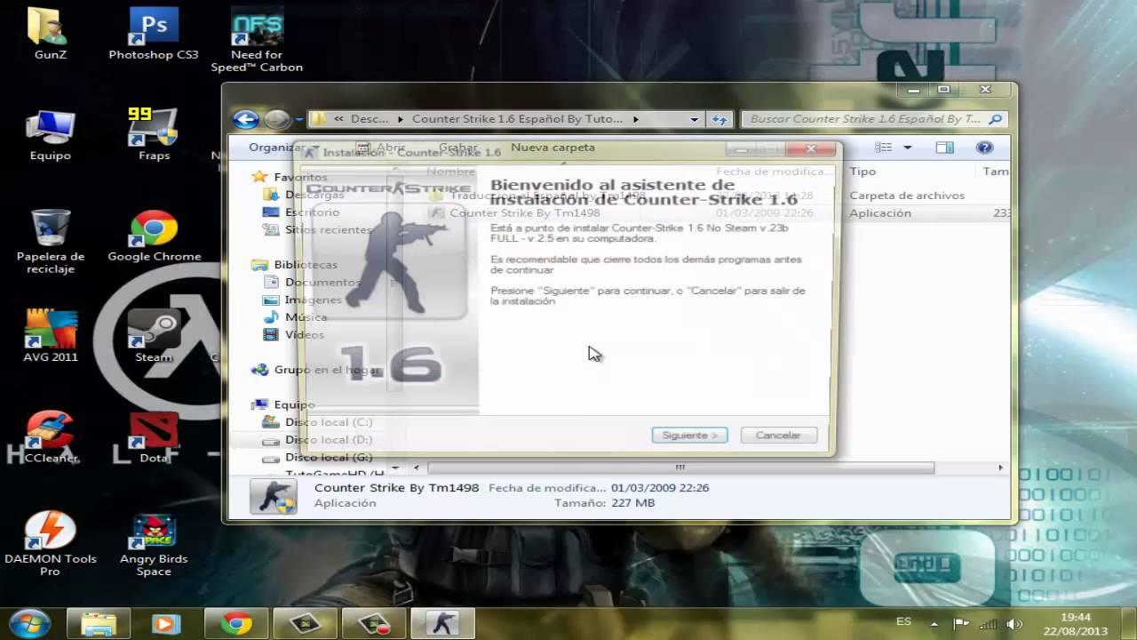 Descargar e Instalar Counter Strike 1.6 No Steam Full Para Pc Español [HD]