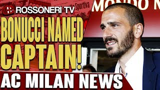 Leonardo Bonucci has signed a five year contract with AC Milan and has been named captain. Let us know your thoughts in the comments!SUBSCRIBE for more AC Milan videos: http://www.RossoneriTV.comSUPPORT Rossoneri TV by making a donation: http://patreon.com/rossoneritvFOLLOW our social media accounts:► Twitter: http://www.twitter.com/RossoneriTV► Facebook: http://www.facebook.com/RossoneriTV► Instagram: http://www.instagram.com/RossoneriTV► Google+: http://plus.google.com/+RossoneriTVChannel