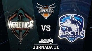 SUPERLIGA ORANGE - TEAM HERETICS VS ARCTIC GAMING- Jornada 11 - #SuperligaOrangeCR11